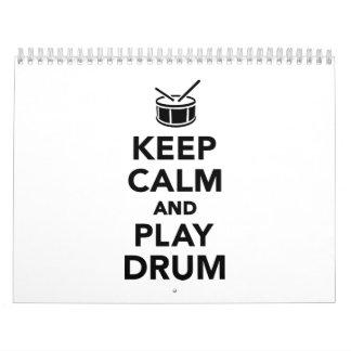 Keep calm and Play drum Calendar