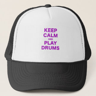 Keep Calm and Play Drums Trucker Hat