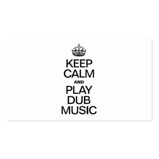 KEEP CALM AND PLAY DUB MUSIC BUSINESS CARD