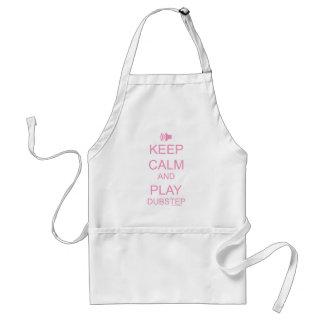 KEEP CALM and PLAY DUBSTEP Adult Apron