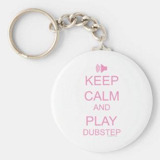 KEEP CALM and PLAY DUBSTEP Basic Round Button Keychain