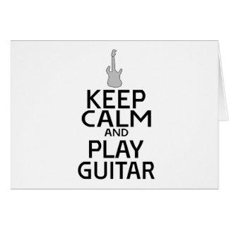 Keep Calm and Play Electric Guitar - Custom Color Card