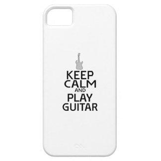 Keep Calm and Play Electric Guitar - Custom Color iPhone 5 Cover
