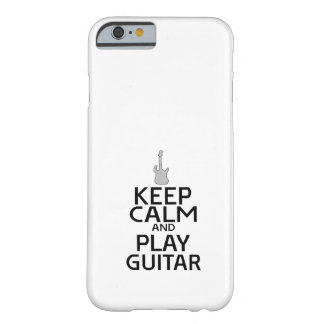 Keep Calm and Play Electric Guitar - Custom Color Barely There iPhone 6 Case