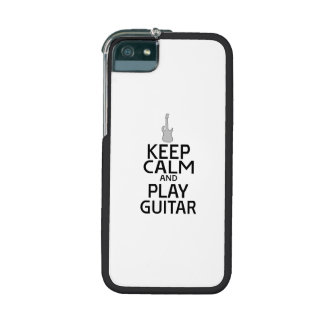 Keep Calm and Play Electric Guitar - Custom Color iPhone 5 Covers
