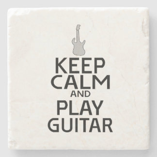 Keep Calm and Play Electric Guitar - Custom Color Stone Beverage Coaster