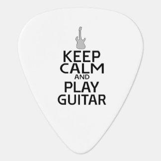 Keep Calm and Play Electric Guitar - Custom Color Guitar Pick