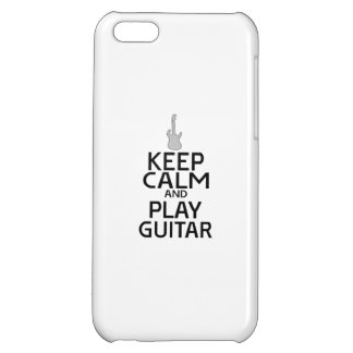 Keep Calm and Play Electric Guitar - Custom Color iPhone 5C Cases