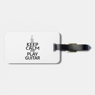 Keep Calm and Play Electric Guitar - Custom Color Luggage Tag