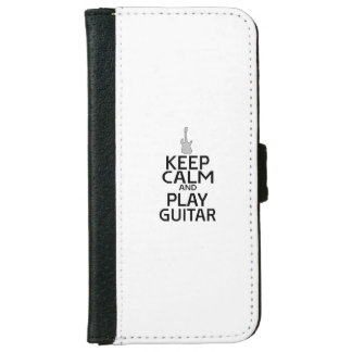 Keep Calm and Play Electric Guitar - Custom Color iPhone 6 Wallet Case