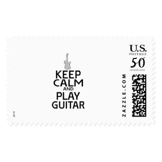 Keep Calm and Play Electric Guitar - Custom Color Postage