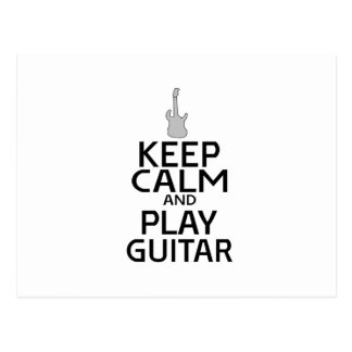 Keep Calm and Play Electric Guitar - Custom Color Postcard