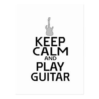 Keep Calm and Play Electric Guitar - Custom Color Postcard