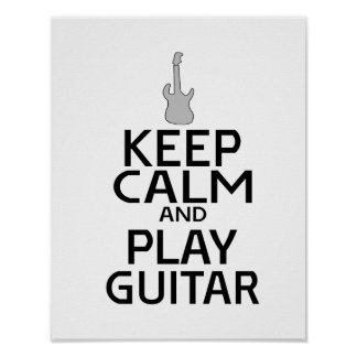 Keep Calm and Play Electric Guitar - Custom Color Poster