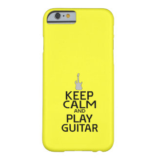 Keep Calm and Play Electric Guitar - on Yellow Barely There iPhone 6 Case