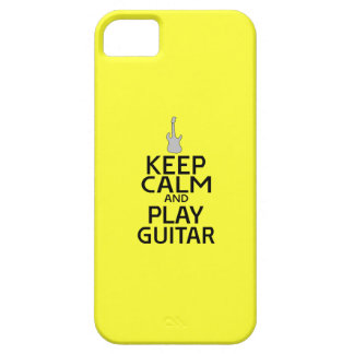 Keep Calm and Play Electric Guitar - on Yellow iPhone 5 Covers