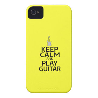 Keep Calm and Play Electric Guitar - on Yellow iPhone 4 Covers