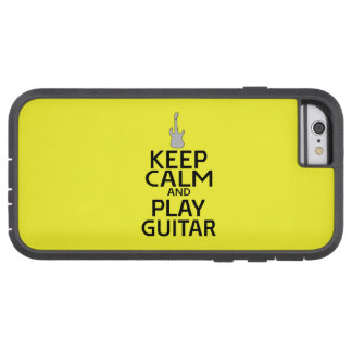 Keep Calm and Play Electric Guitar - on Yellow Tough Xtreme iPhone 6 Case