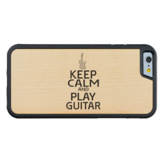 Keep Calm and Play Electric Guitar Carved® Maple iPhone 6 Bumper