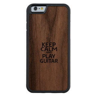 Keep Calm and Play Electric Guitar Carved® Walnut iPhone 6 Bumper