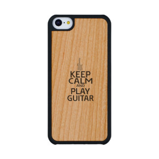 Keep Calm and Play Electric Guitar Carved® Cherry iPhone 5C Case