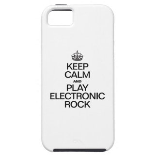 KEEP CALM AND PLAY ELECTRONIC ROCK iPhone SE/5/5s CASE