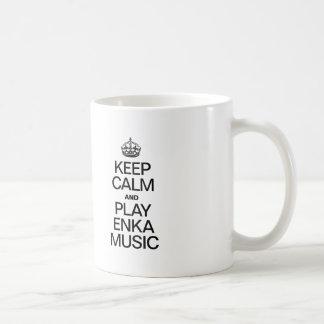 KEEP CALM AND PLAY ENKA MUSIC COFFEE MUG