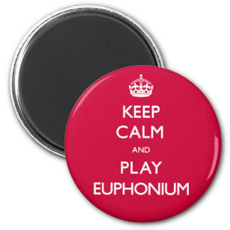 Keep Calm and Play Euphonium (Carry On) 2 Inch Round Magnet