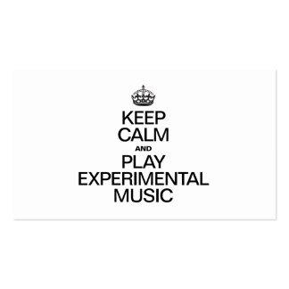 KEEP CALM AND PLAY EXPERIMENTAL MUSIC BUSINESS CARD
