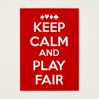 Keep Calm And Play Fair Business Card