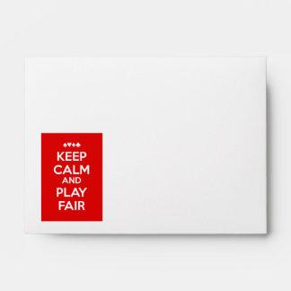 Keep Calm And Play Fair Envelope