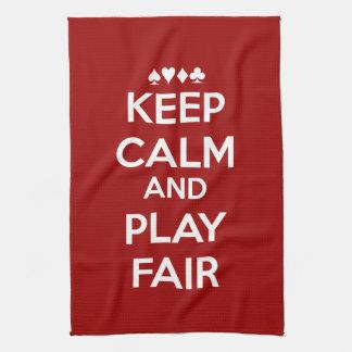 Keep Calm And Play Fair Kitchen Towels