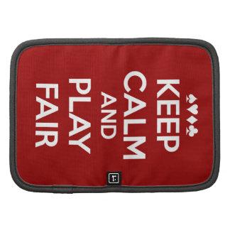 Keep Calm And Play Fair Organizers