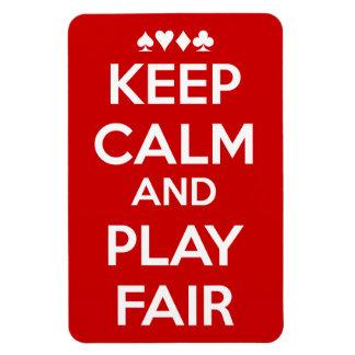 Keep Calm And Play Fair Rectangle Magnets