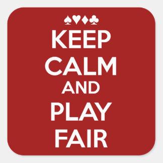 Keep Calm And Play Fair Square Sticker
