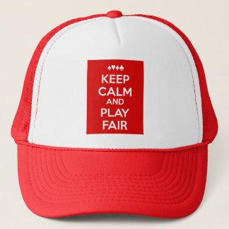 Keep Calm And Play Fair Trucker Hat