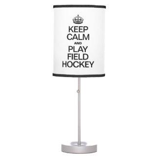 KEEP CALM AND PLAY FIELD HOCKEY DESK LAMP