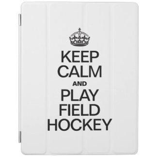 KEEP CALM AND PLAY FIELD HOCKEY iPad COVER