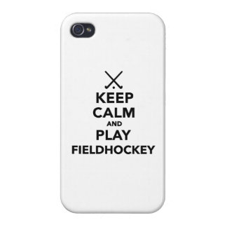 Keep calm and play Field Hockey iPhone 4 Case