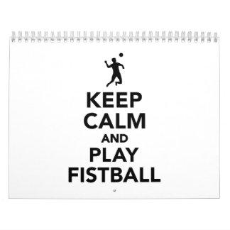 Keep calm and play Fistball Calendar
