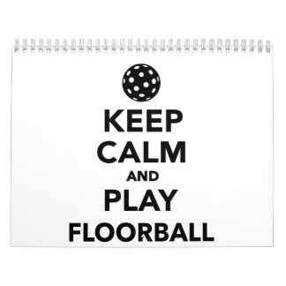 Keep calm and play Floorball Calendar