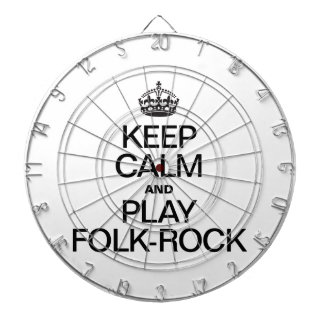 KEEP CALM AND PLAY FOLK ROCK DART BOARD