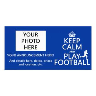 Keep Calm and Play Football (American Football) Card