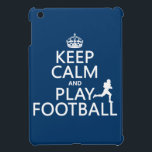 "Keep Calm and Play Football (American Football) iPad Mini Cover<br><div class=""desc"">This reads &#39;Keep Calm and Play Football&#39; with the classic crown at the top like the original Keep Calm poster. To add a touch of difference there is a silhouette of an american footballer running over the letters. It&#39;s one of my favourite designs, and makes great gifts or giveaways for...</div>"