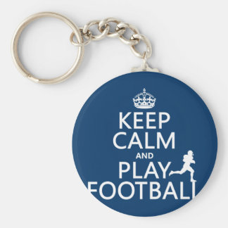 Keep Calm and Play Football (American Football) Keychain
