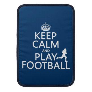 Keep Calm and Play Football (American Football) MacBook Sleeve