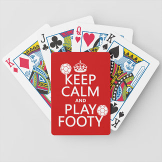Keep Calm and Play Footy (football) (soccer) Bicycle Playing Cards