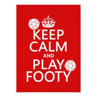 Keep Calm and Play Footy (football) (soccer) Card