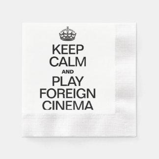 KEEP CALM AND PLAY FOREIGN CINEMA COINED COCKTAIL NAPKIN