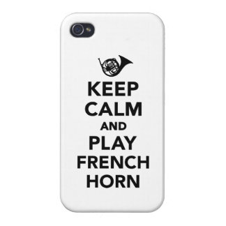 Keep calm and play french horn case for iPhone 4